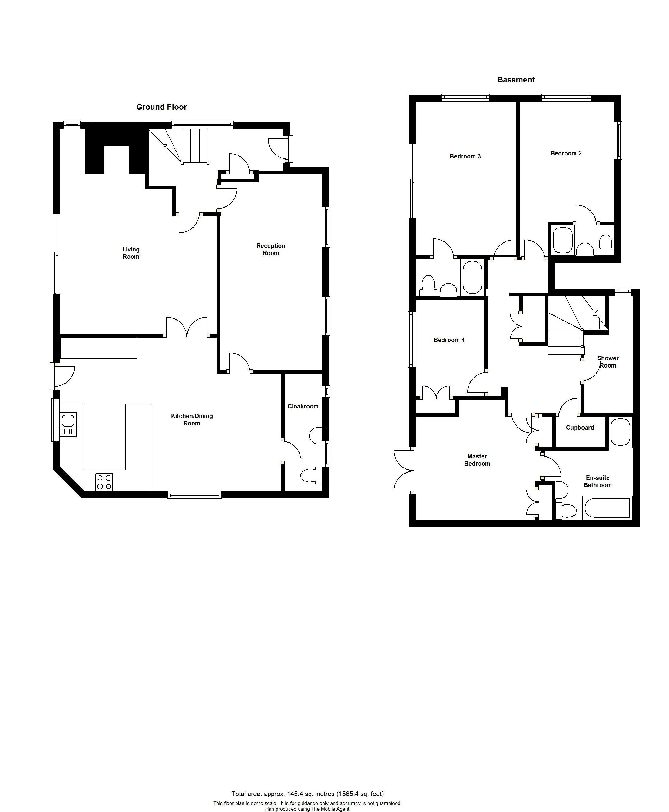 Floorplans For Timber Lodge, Charing Hill