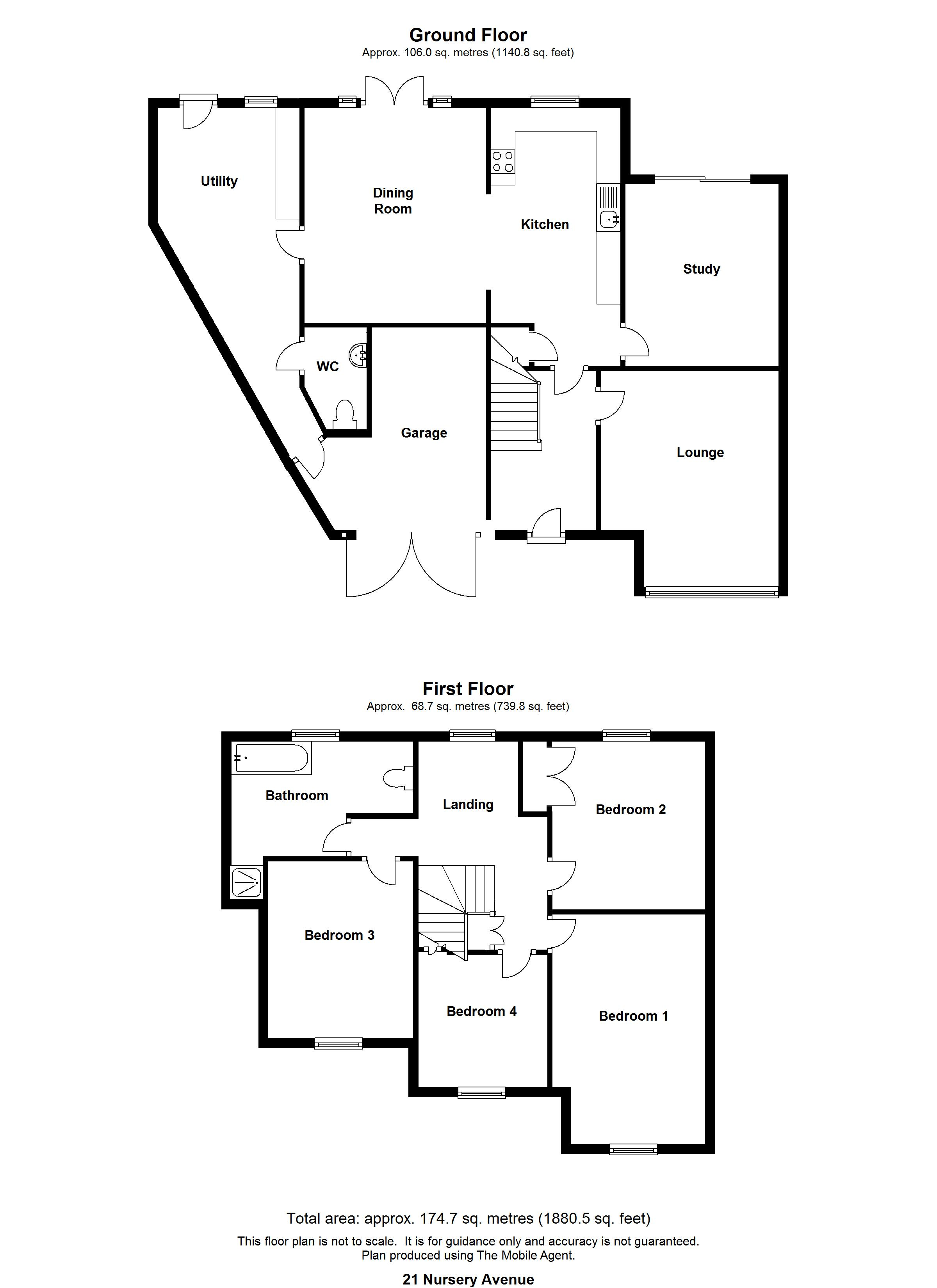 Floorplans For Nursery Avenue, Maidstone
