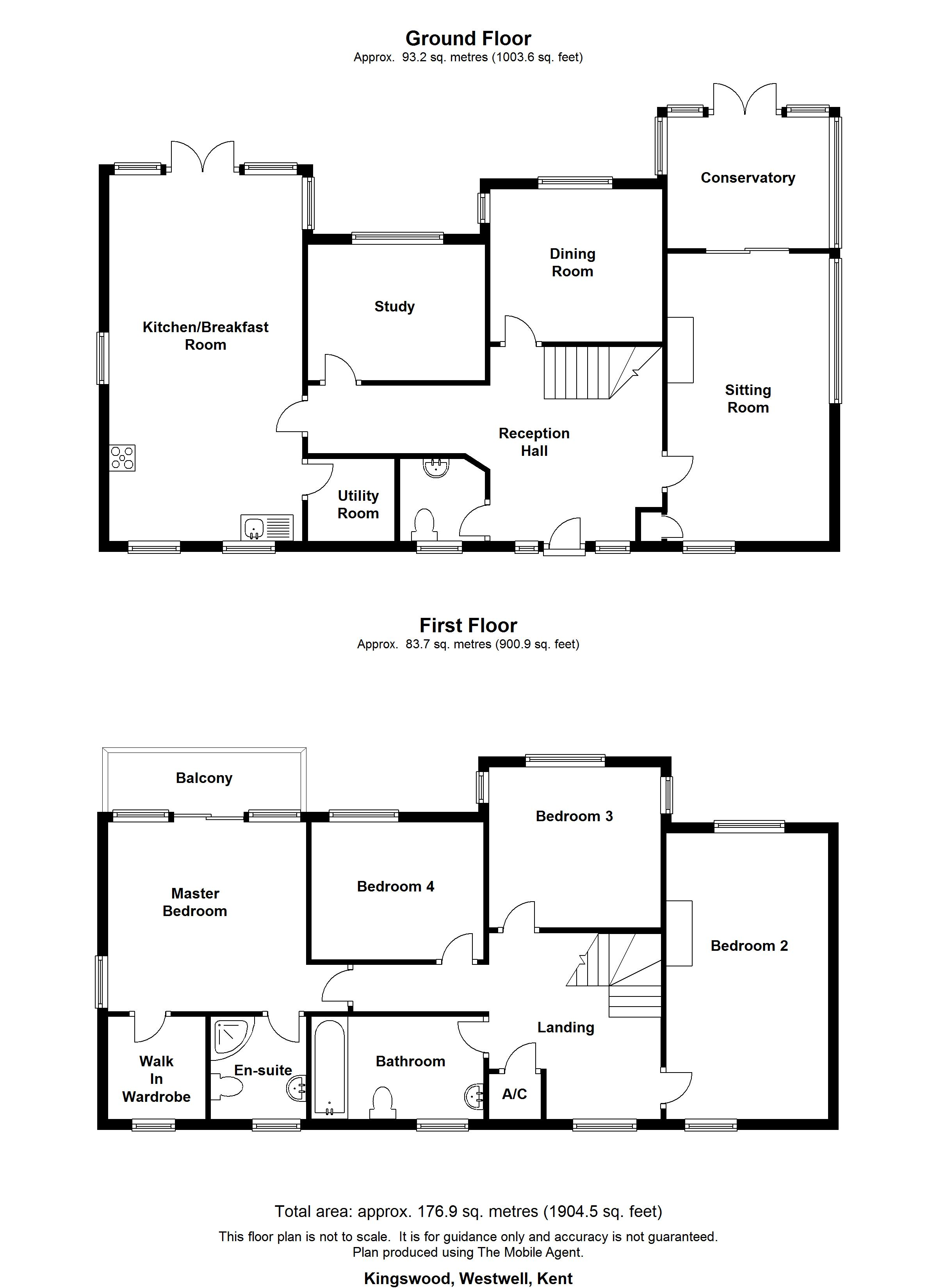 Floorplans For Kingswood, Westwell
