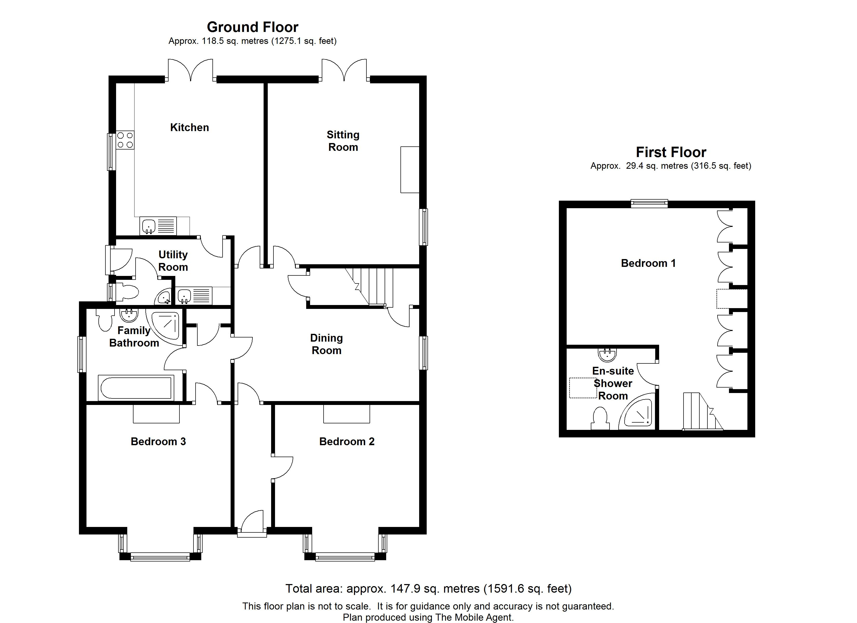 Floorplans For Cherry Holt, Smarden Bell Road, Smarden