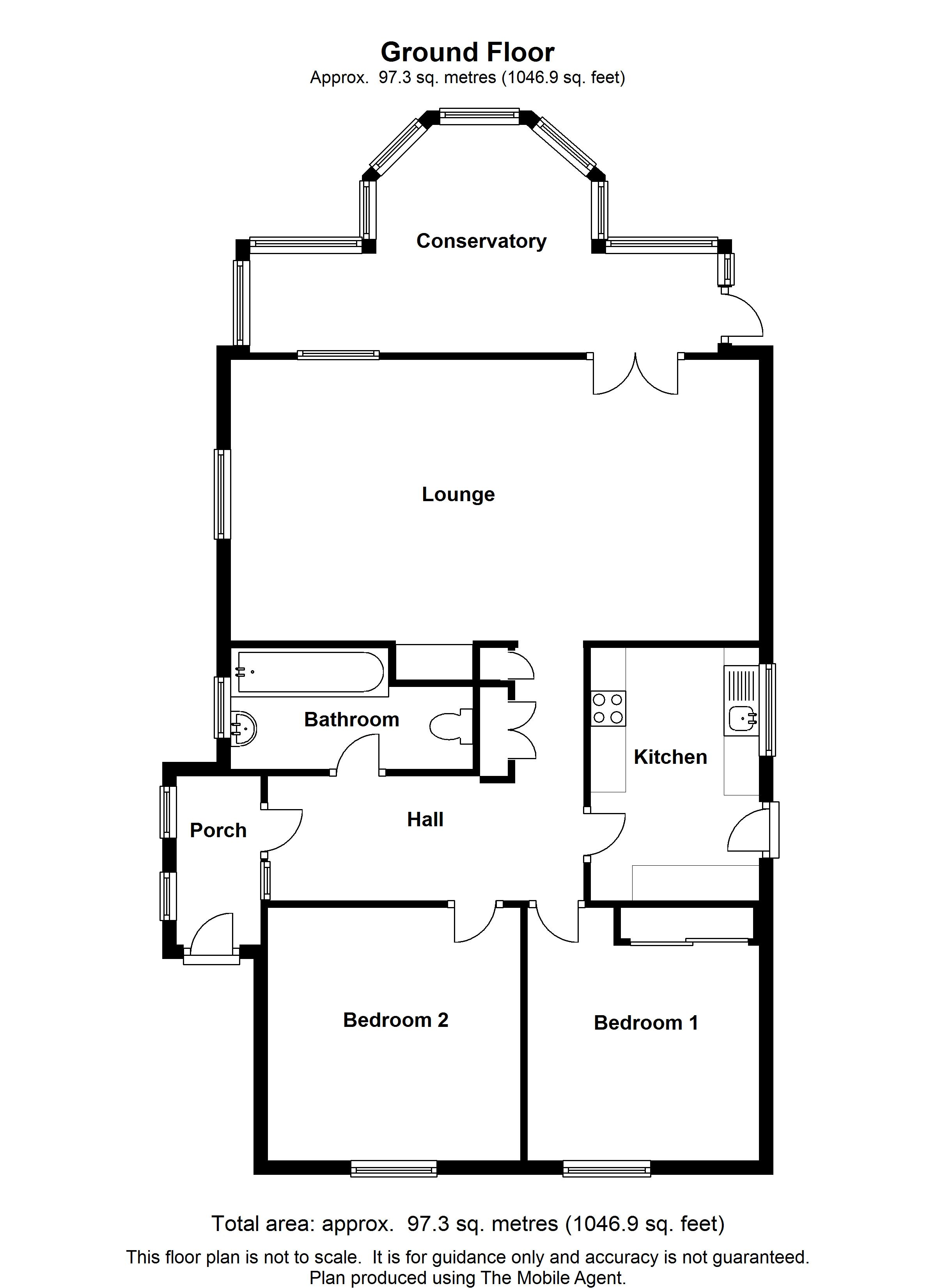 Floorplans For Maples, The Street, Pluckley