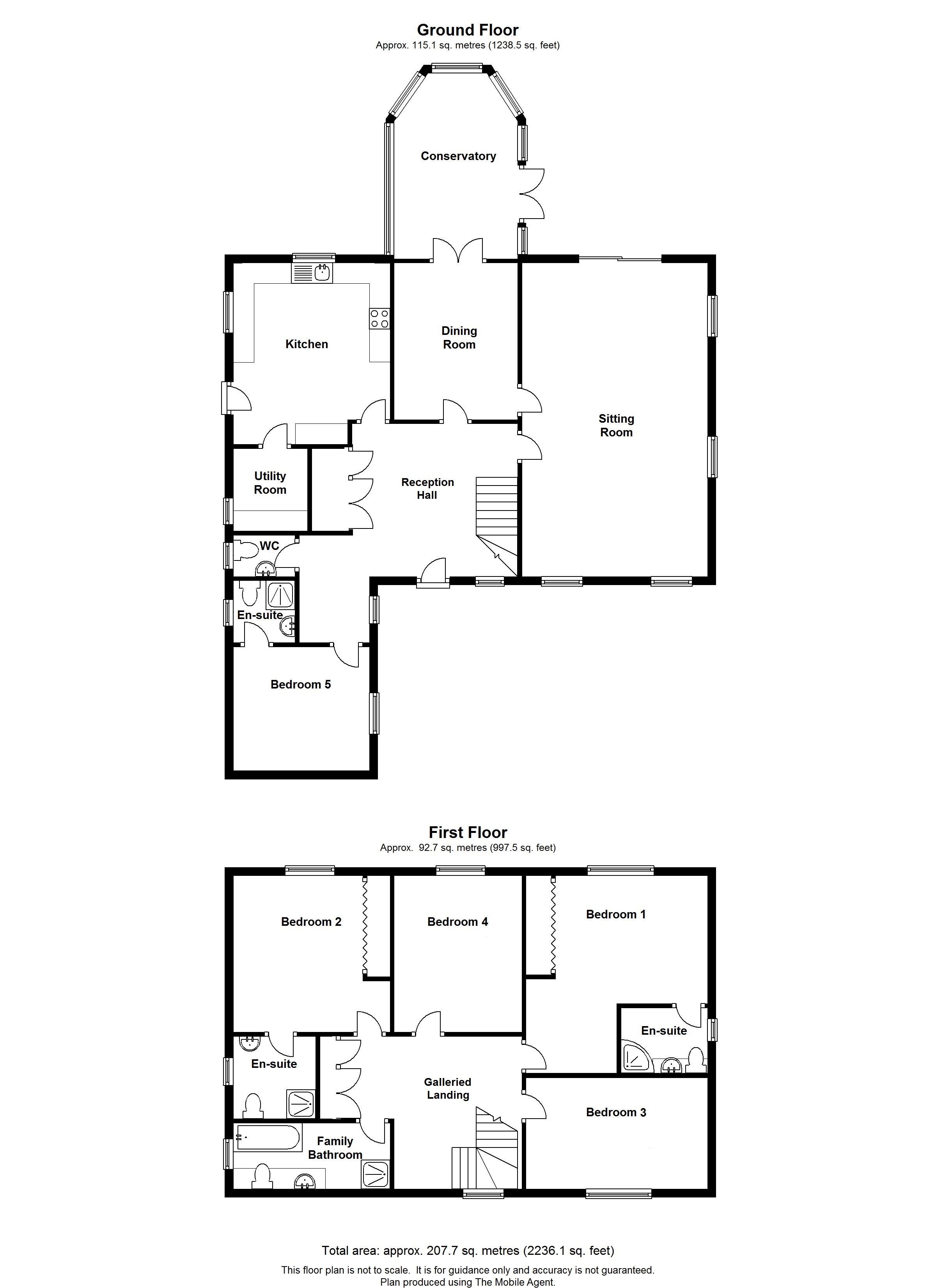 Floorplans For Sunflowers, Pluckley