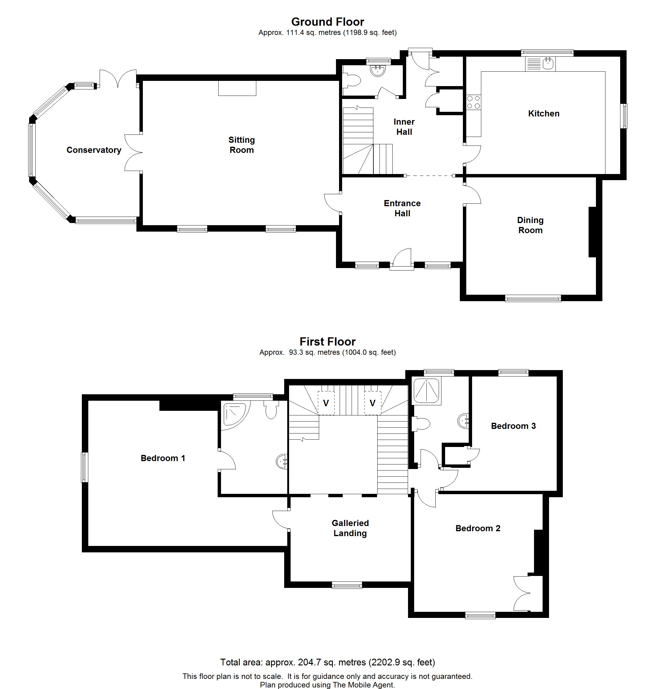 Floorplans For The Old Rectory, The Street, Smarden