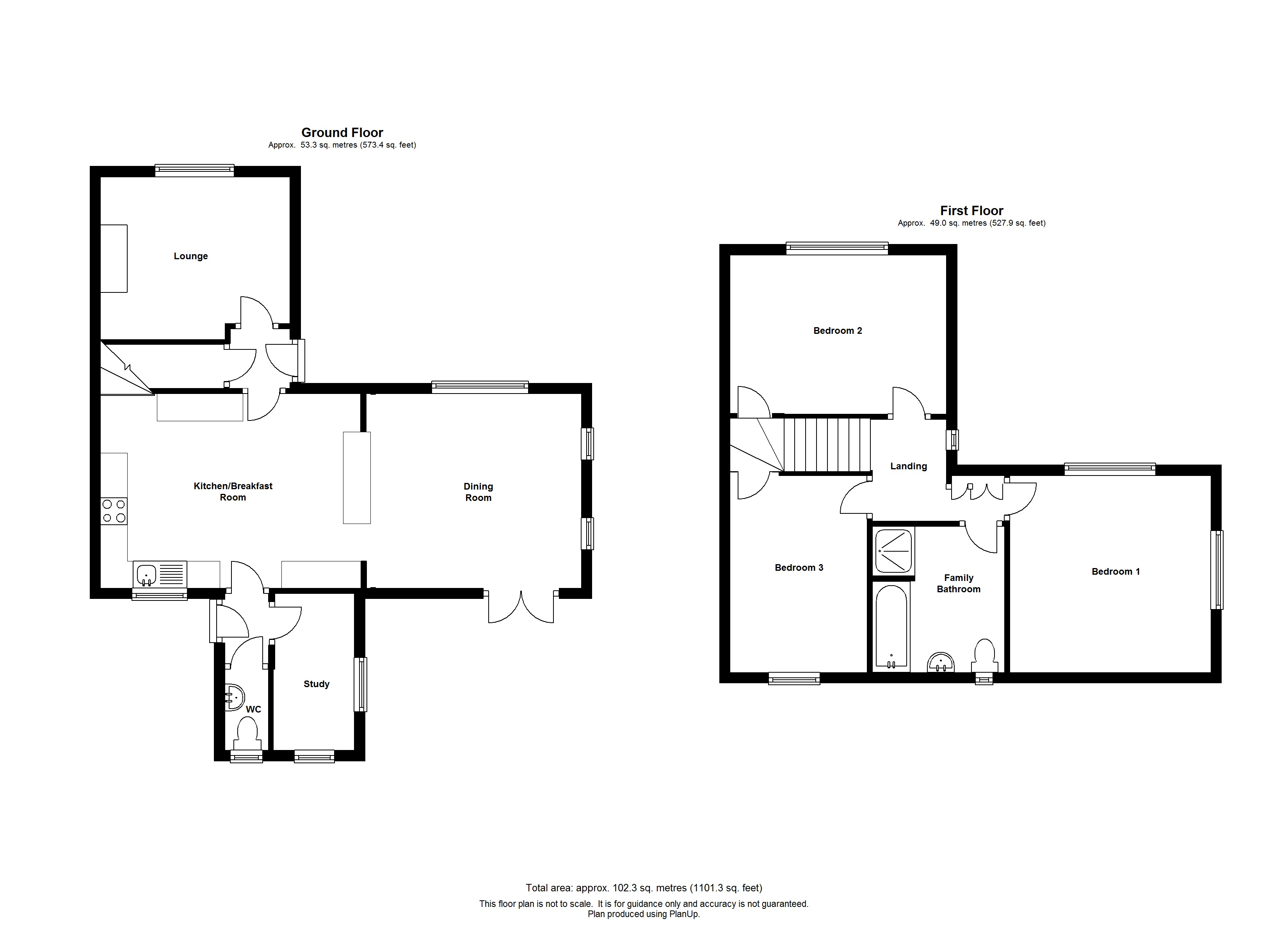 Floorplans For The Old Police House, 12 Station Road, Charing
