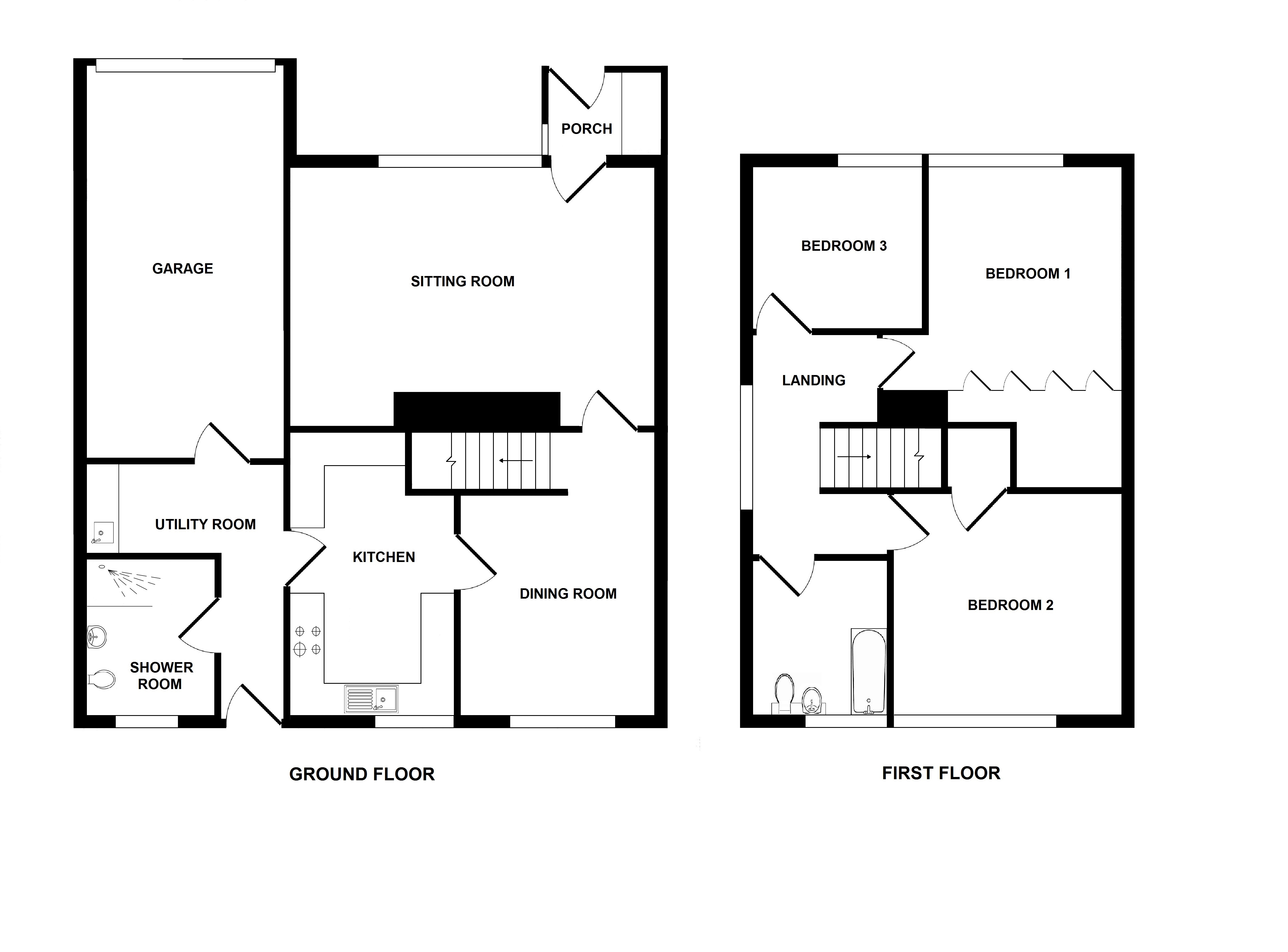 Floorplans For Kiln Close, Challock