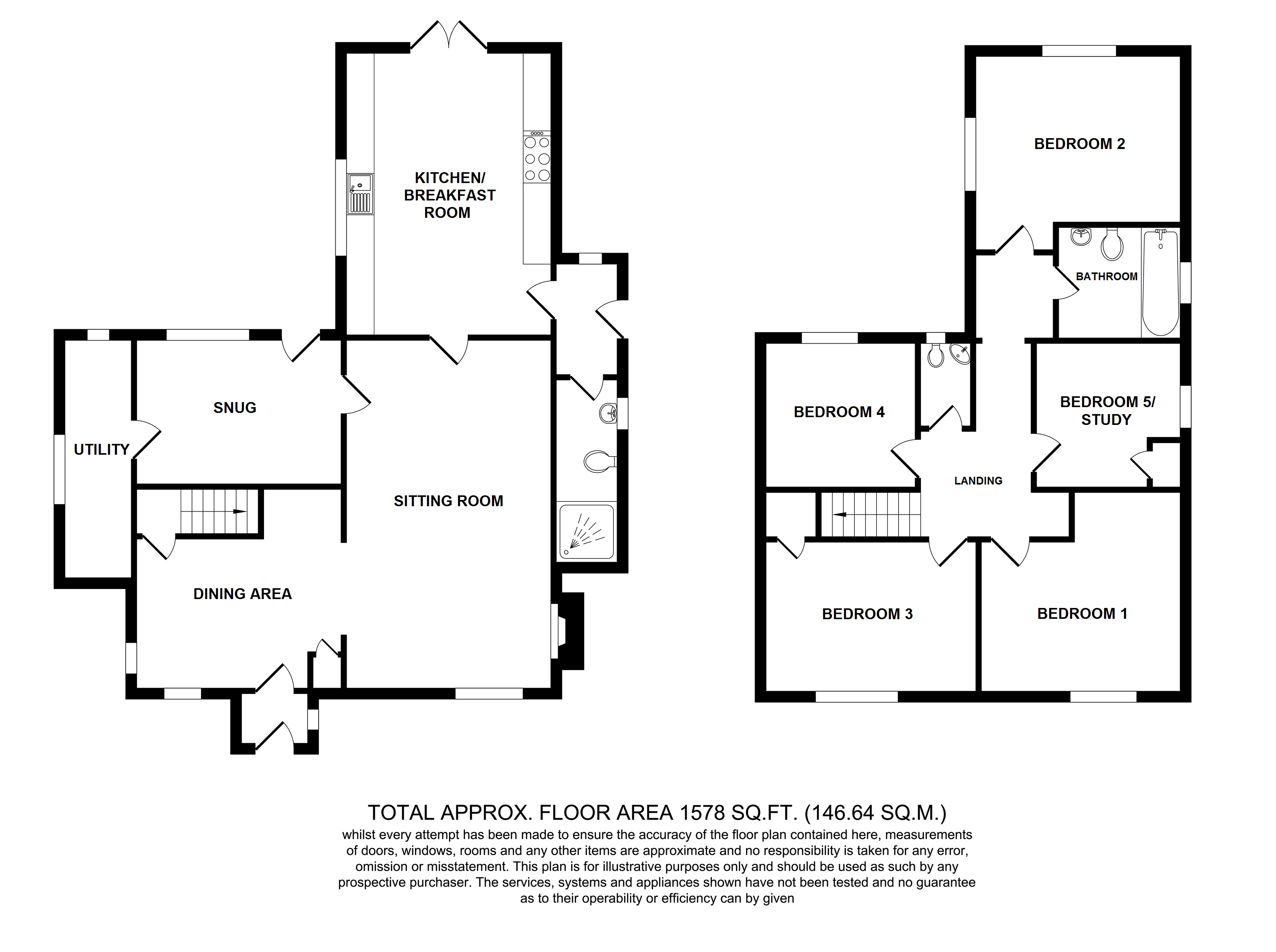 Floorplans For The White Cottage, New House Lane, Pluckley