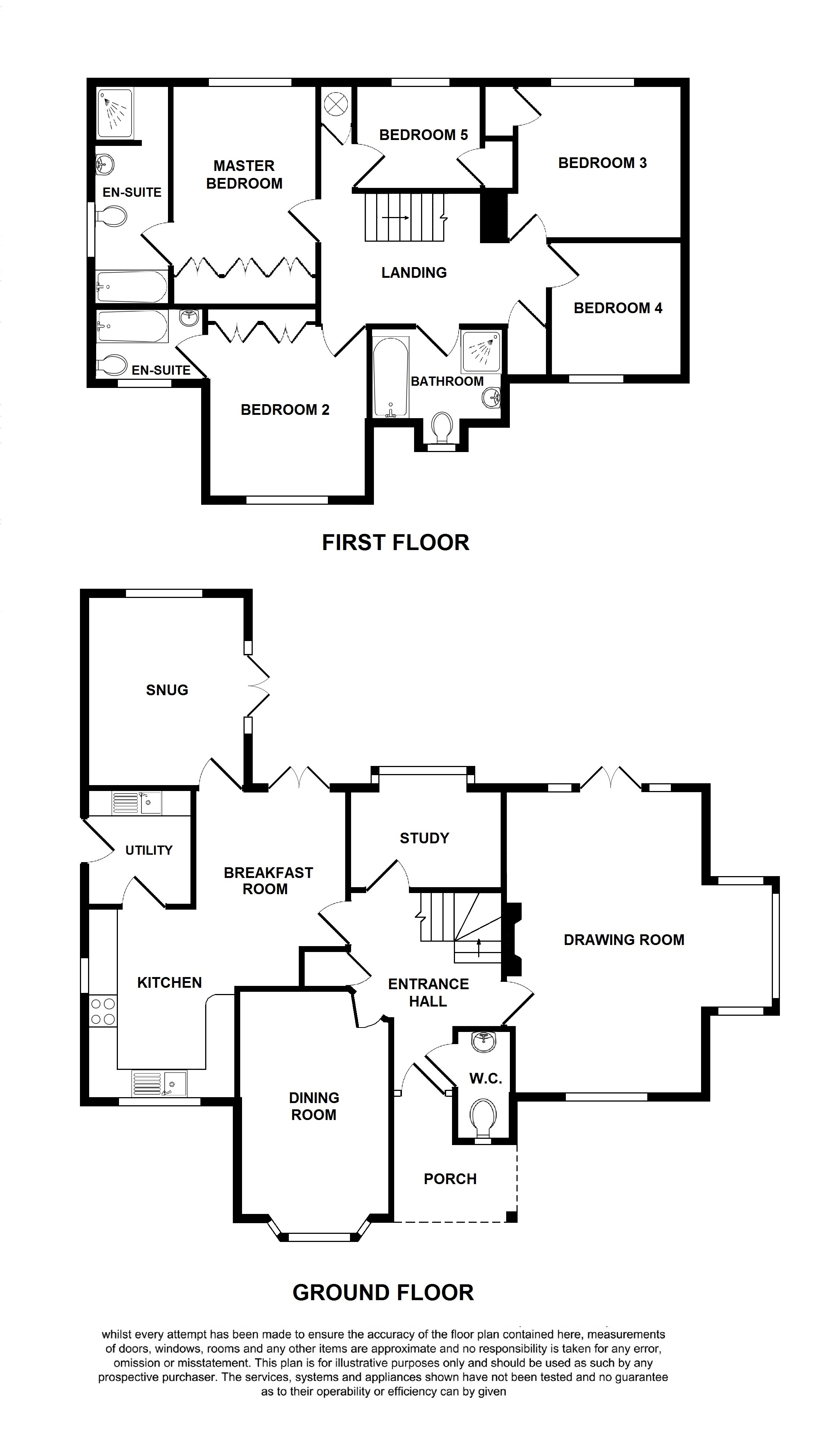 Floorplans For Camellia House, Forge Hill, Pluckley