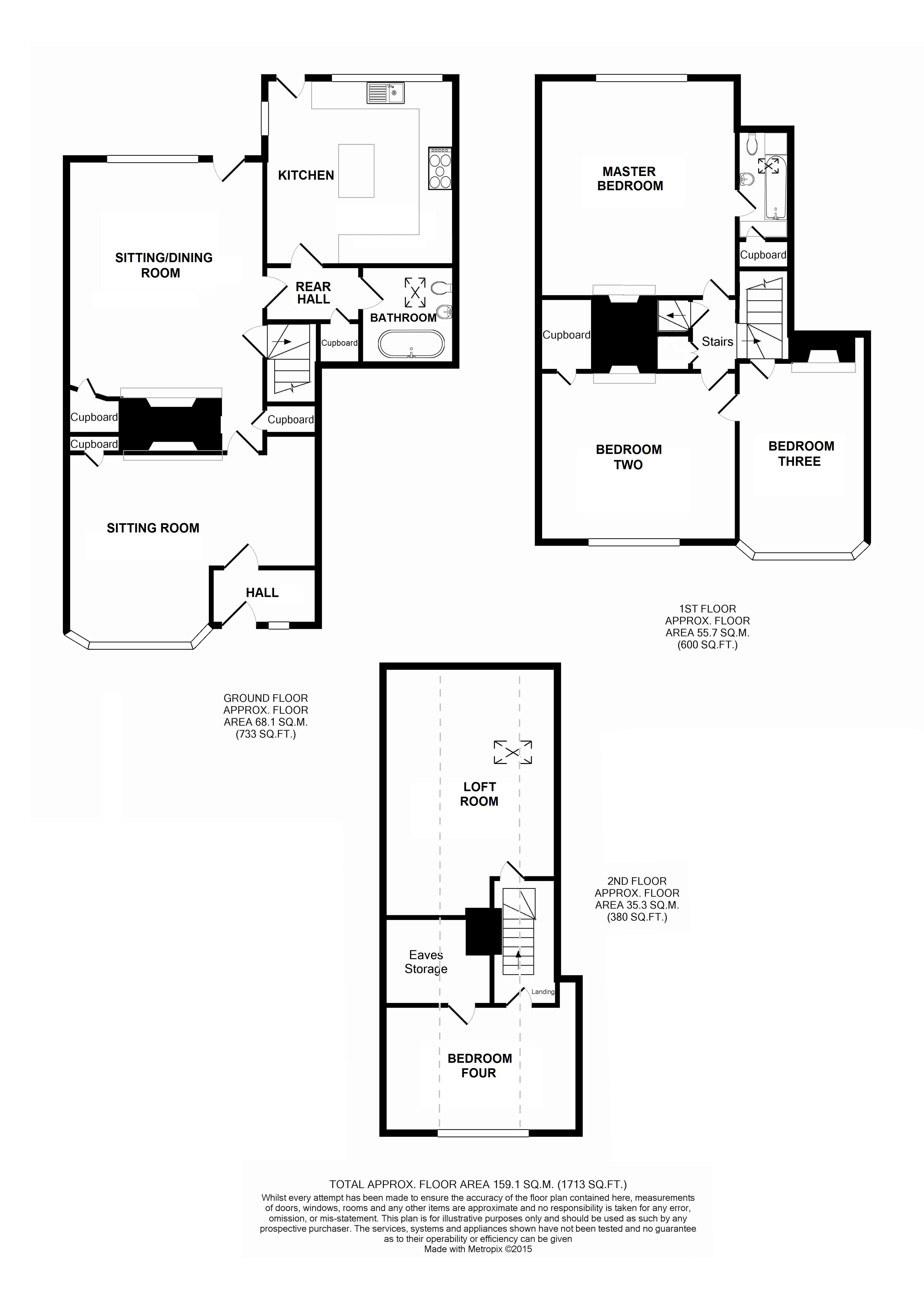 Floorplans For Hope Haven, 28 High Street, Charing