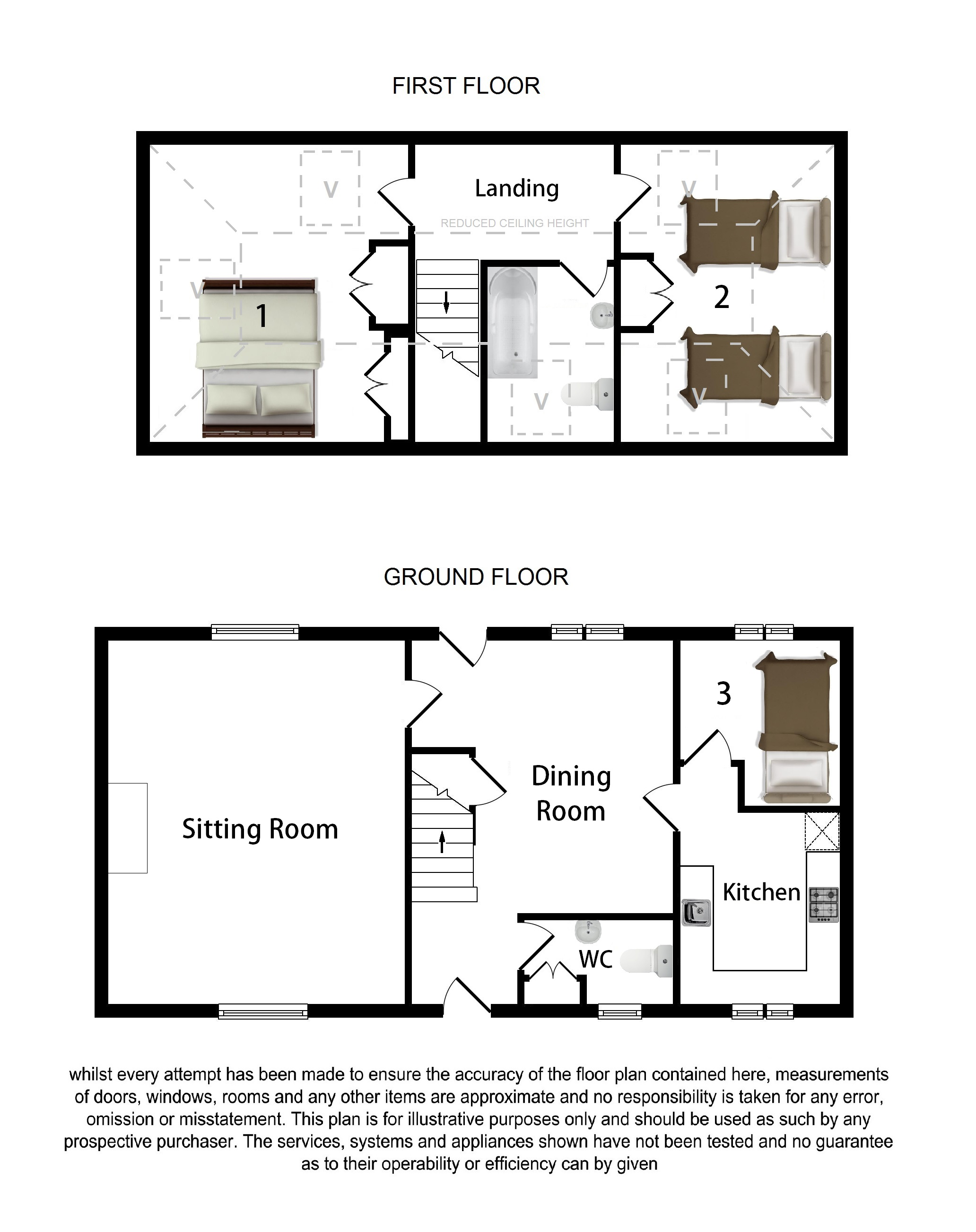 Floorplans For The Old Stables, The Street, Pluckley
