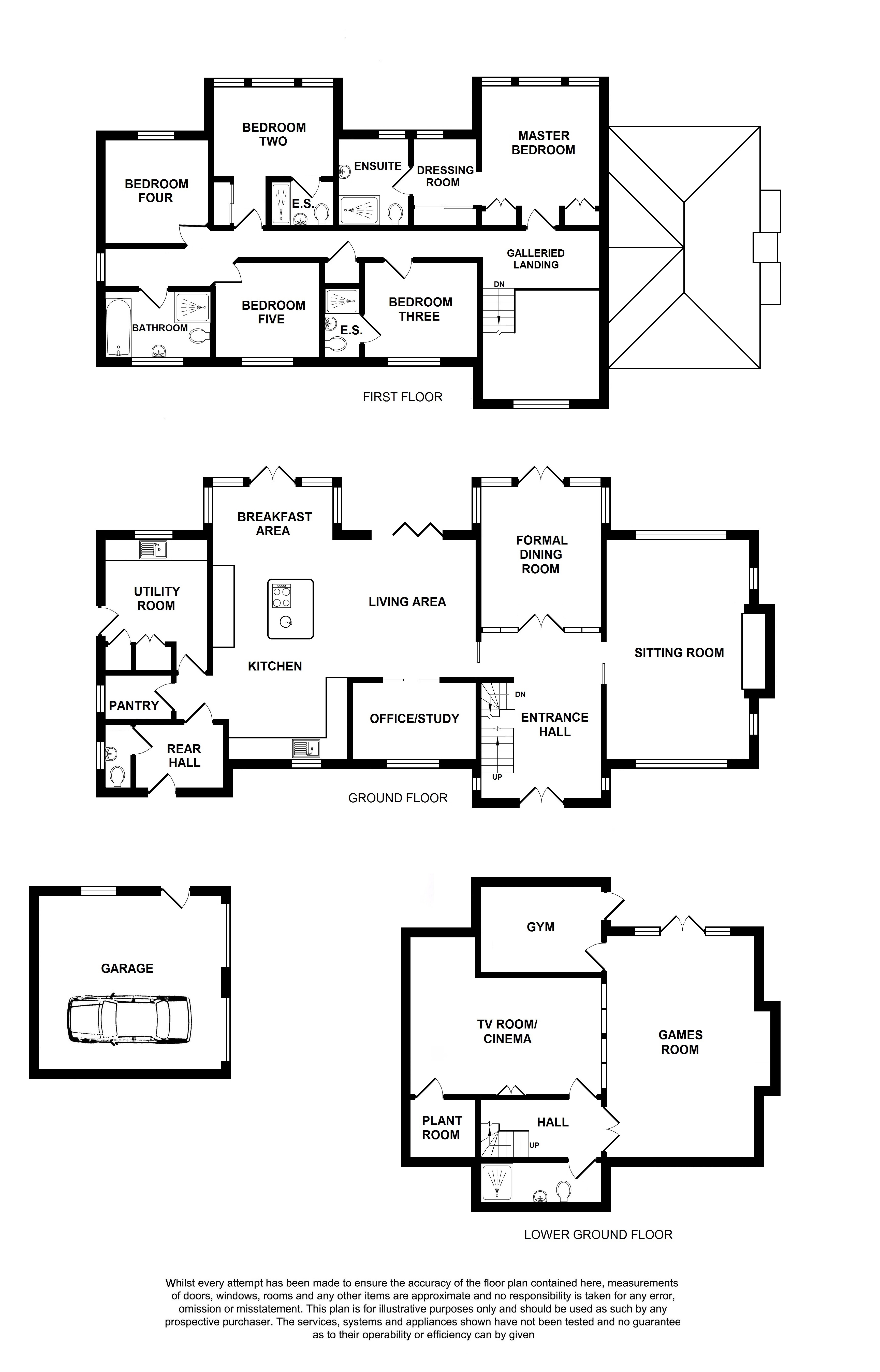 Floorplans For Eastcote, Charing Hill, Charing