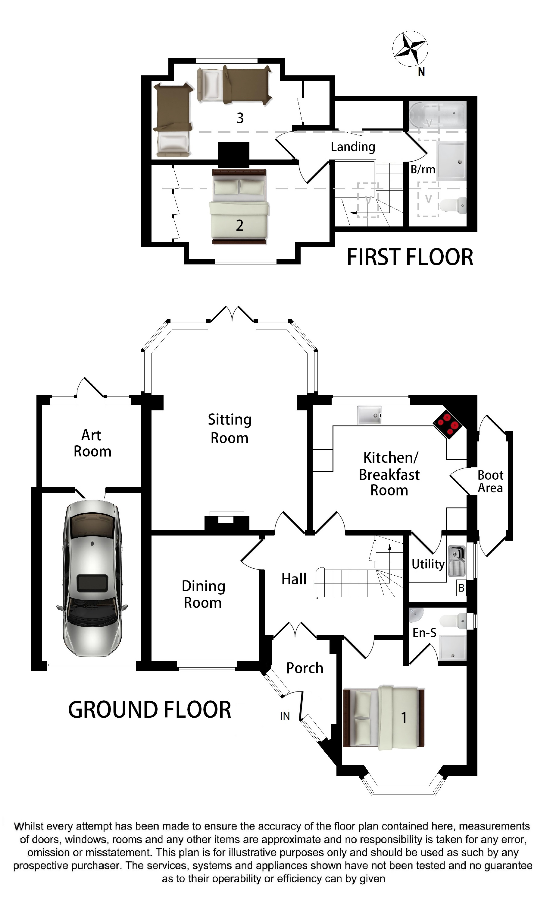 Floorplans For Jesmondene, Pett Lane, Charing