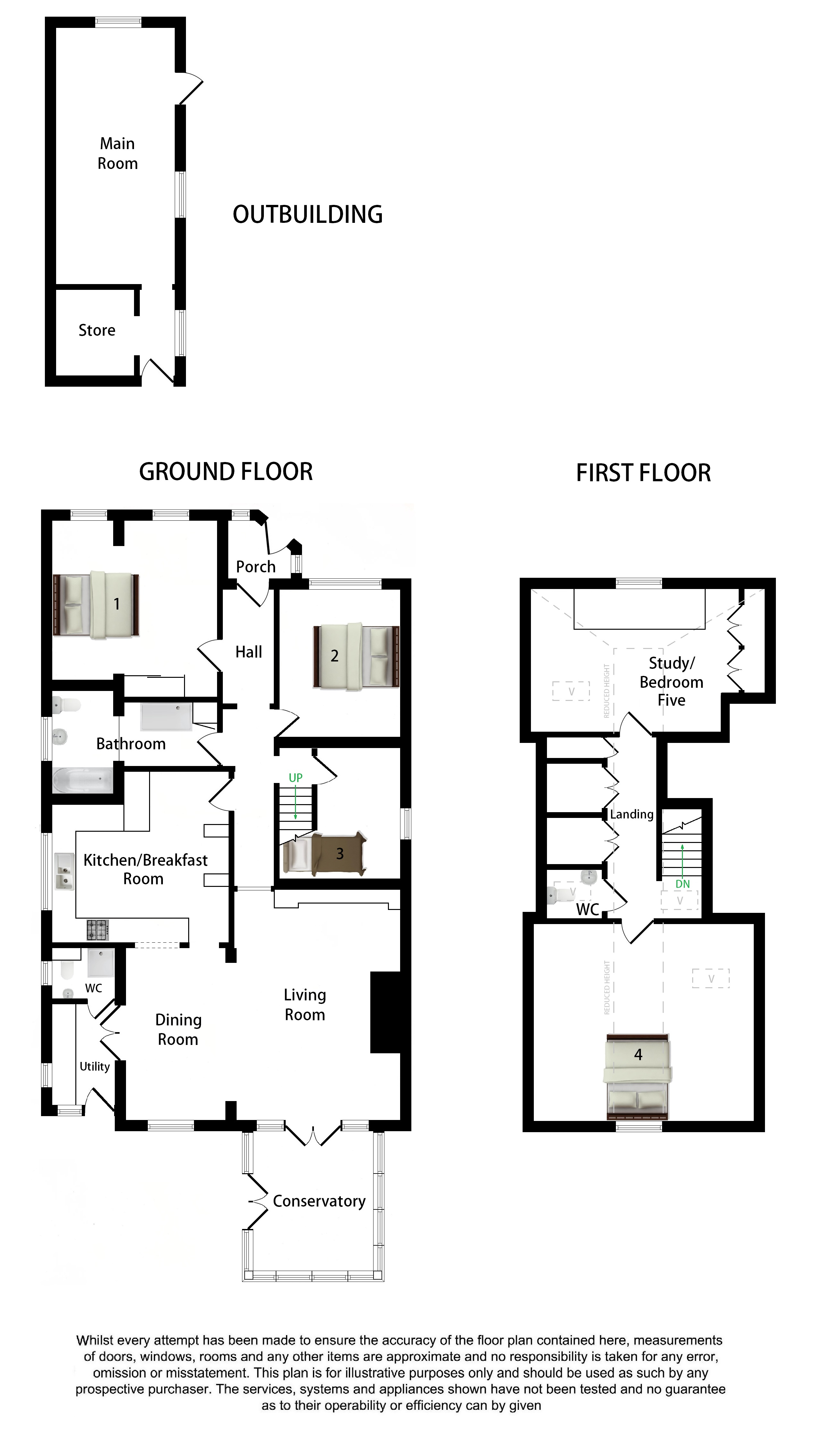 Floorplans For Highfields, Shalmsford Road, Chilham