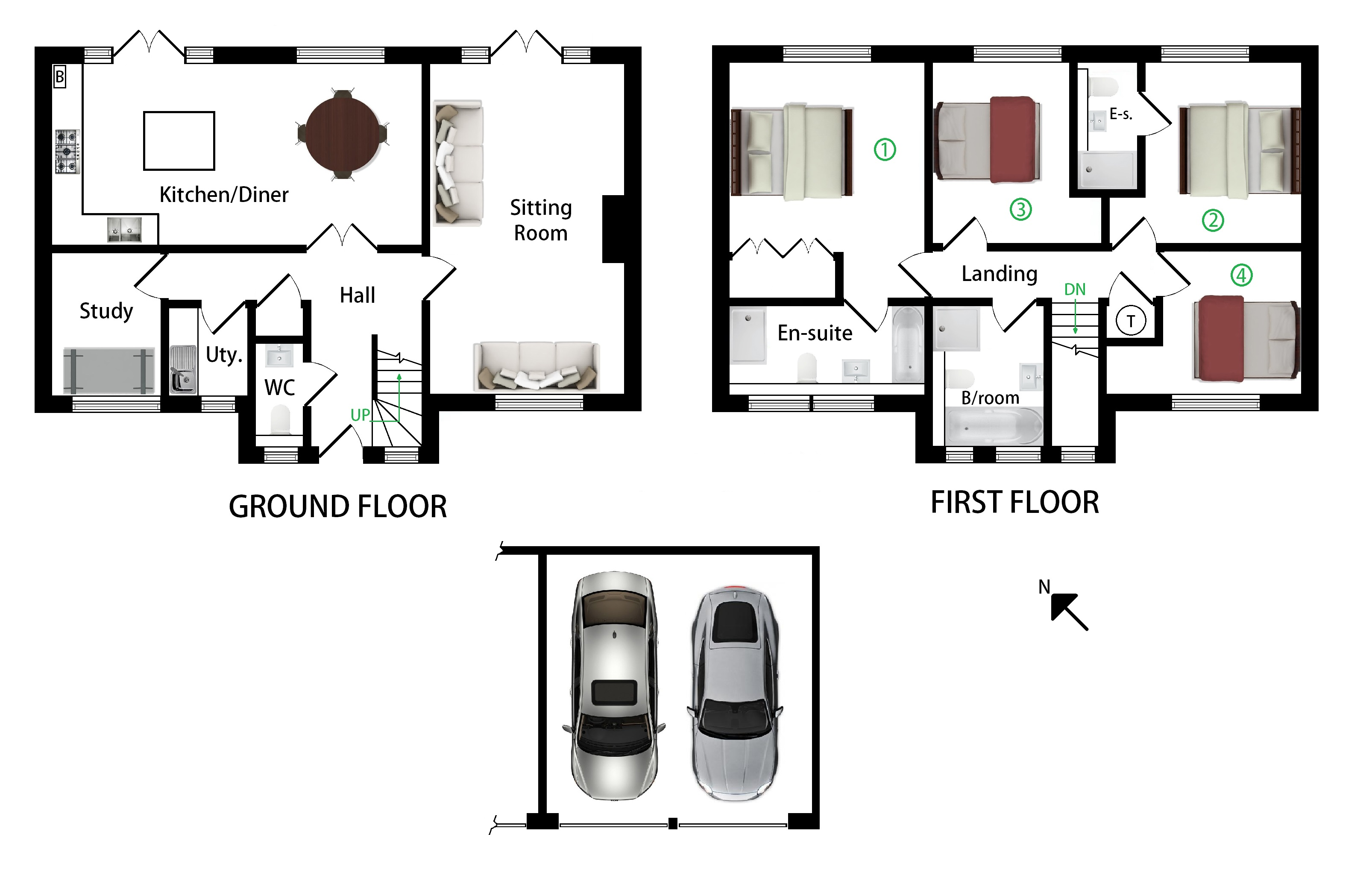 Floorplans For Chillingbourne House, Sondes Court, Selling