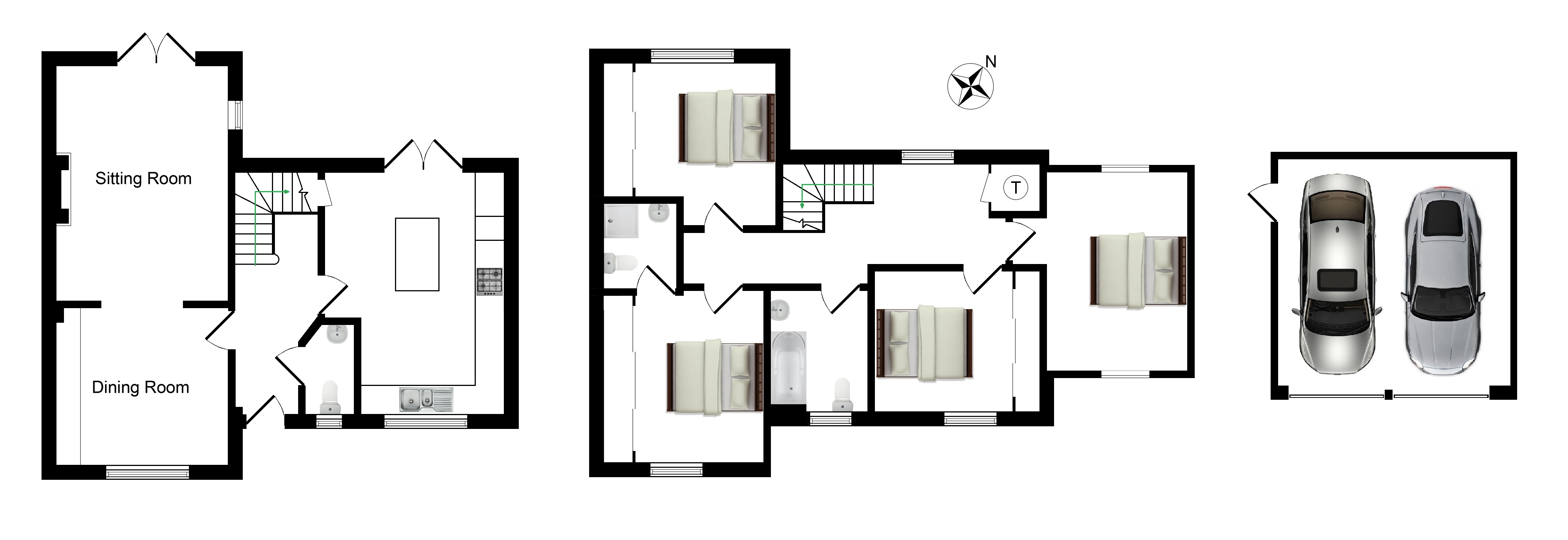 Floorplans For Tatchell Drive, Charing