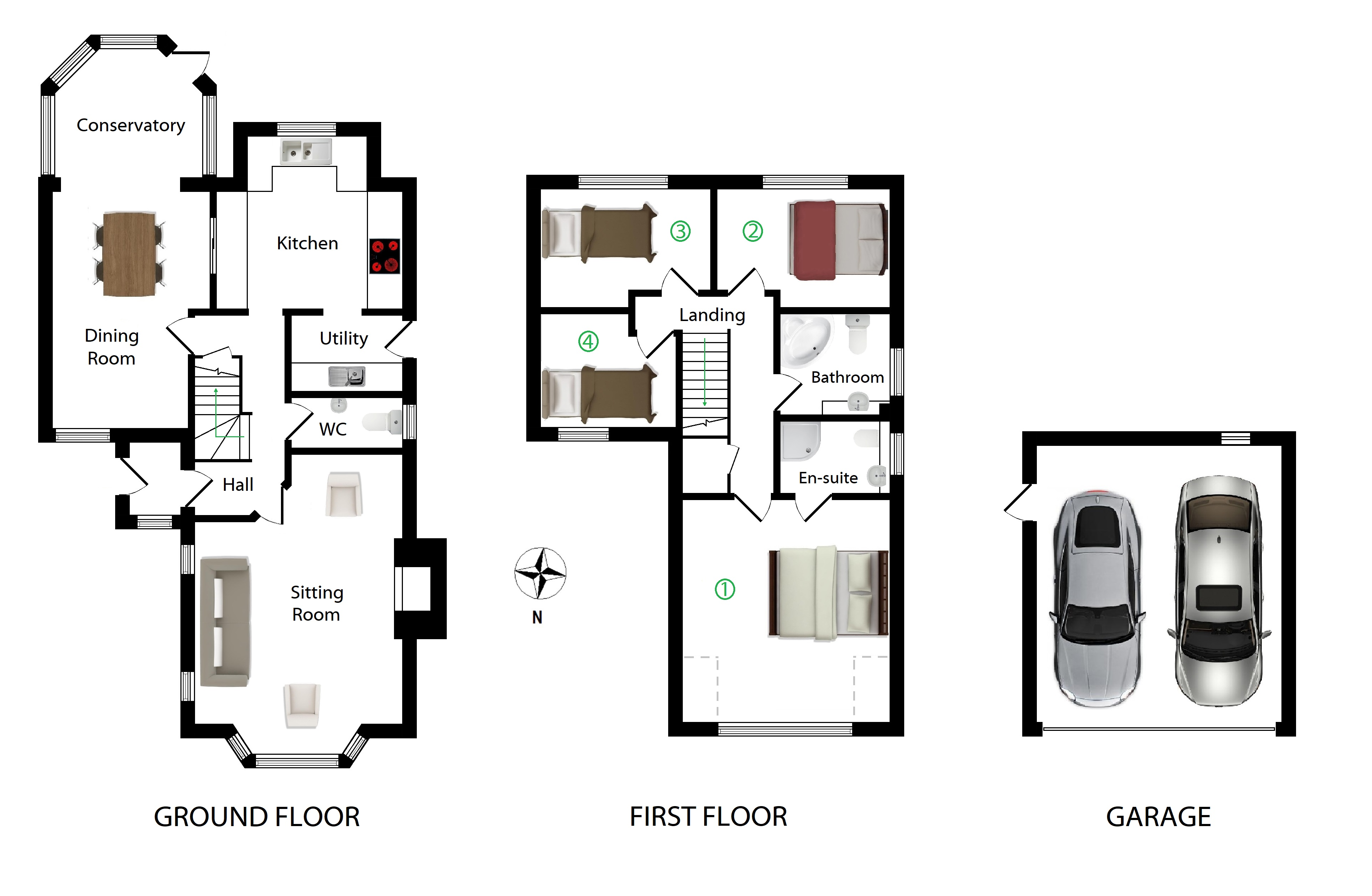 Floorplans For Lenham Road, Platts Heath