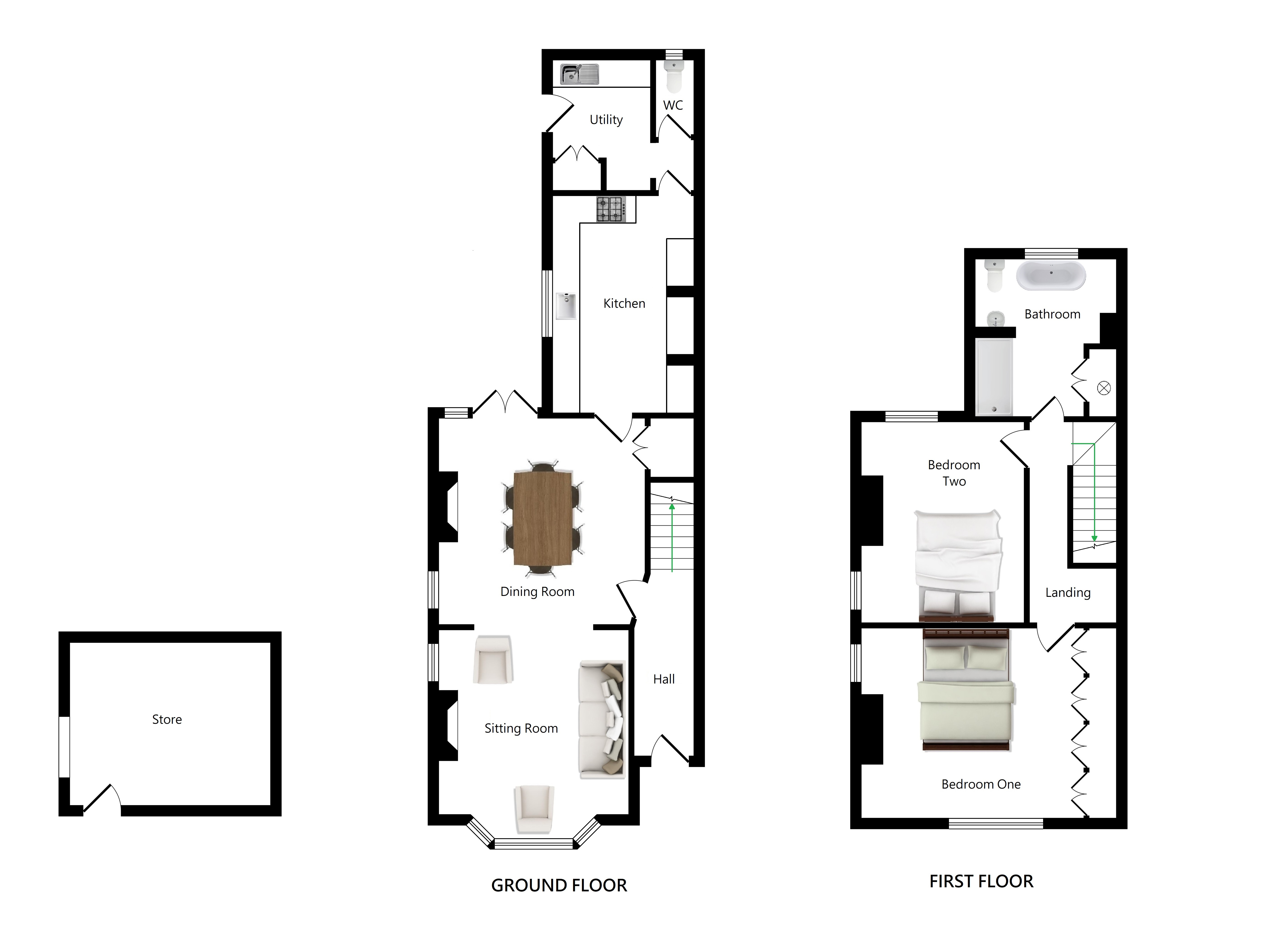 Floorplans For Fairview Villas, Bethersden Road, Smarden