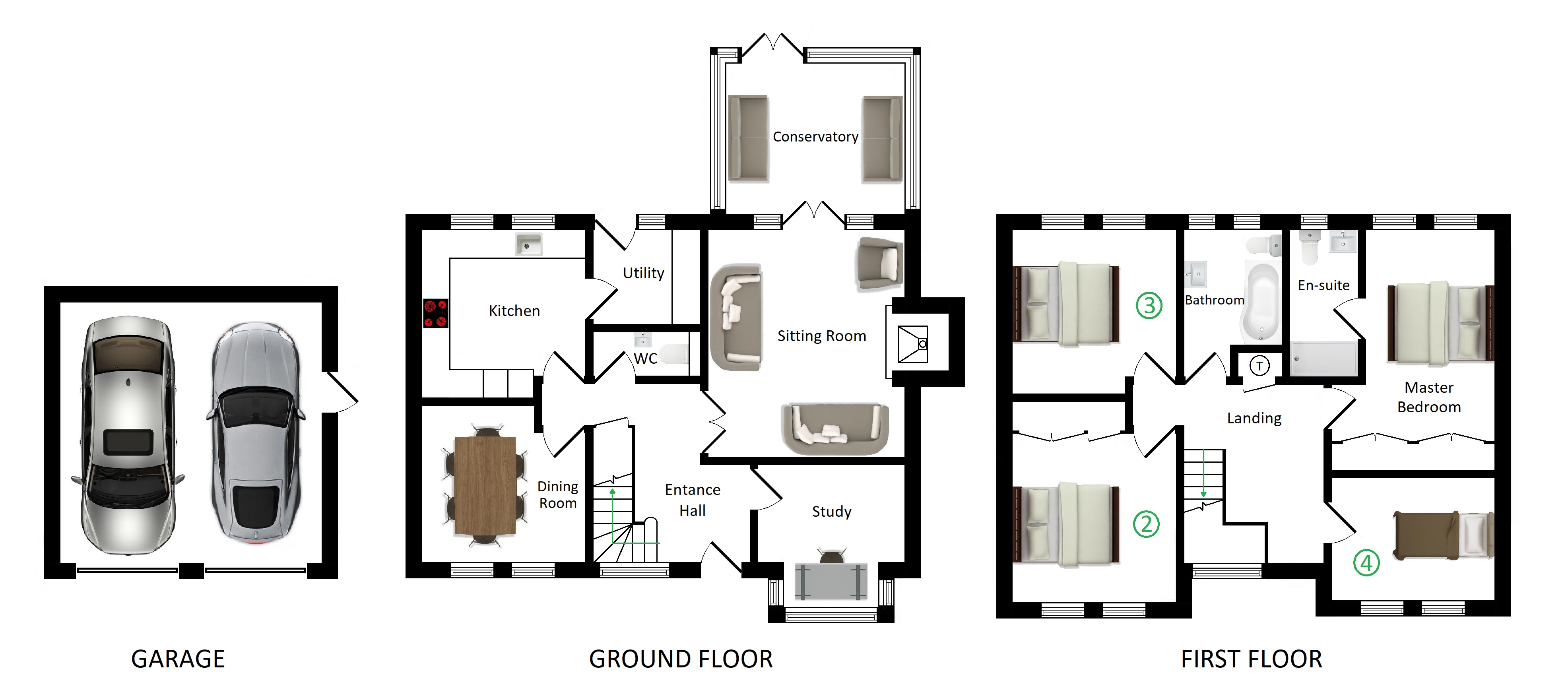 Floorplans For Westwood, 4 Clevedon Court, Challock