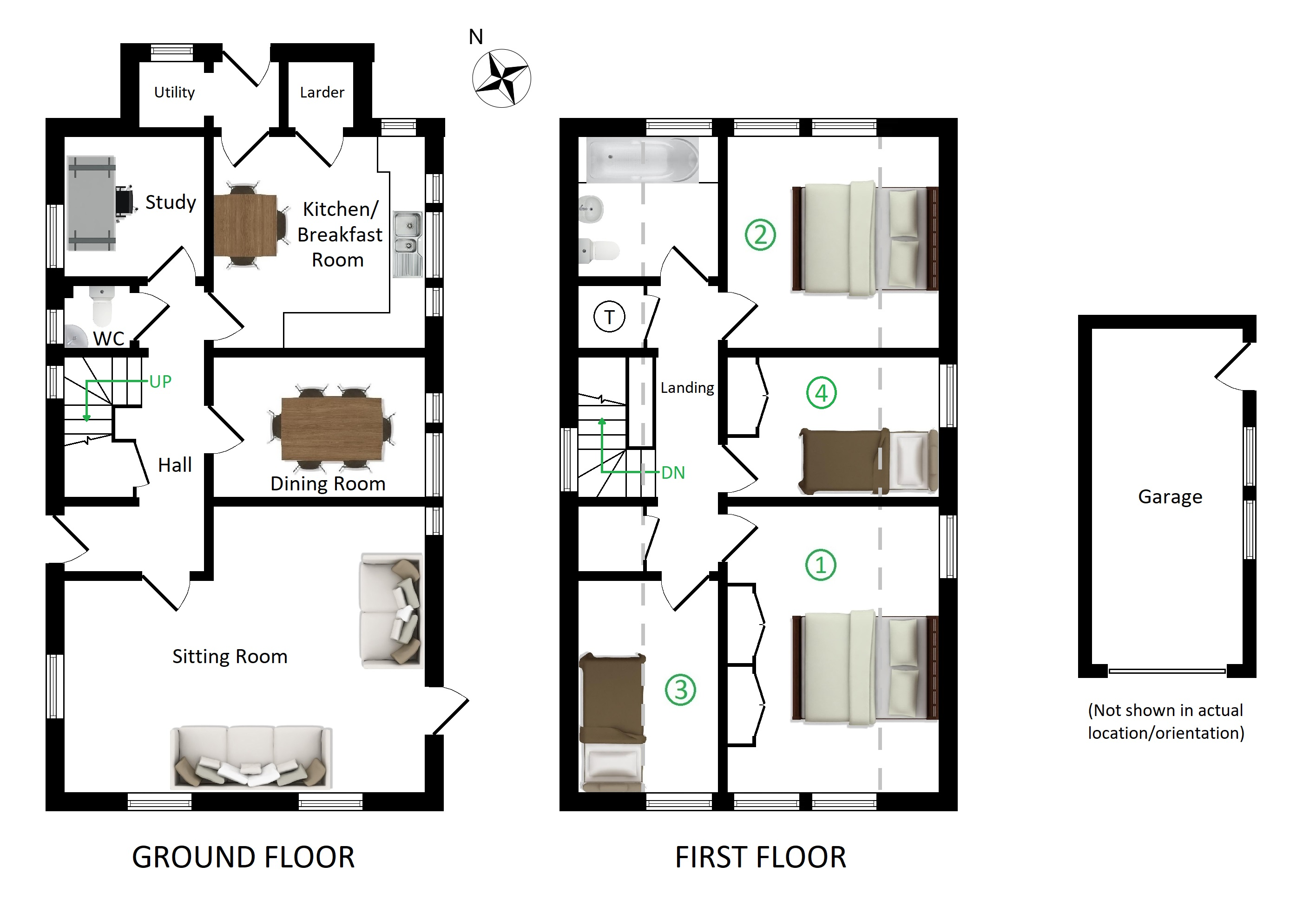 Floorplans For Yeavering Bell, Pluckley Road, Charing