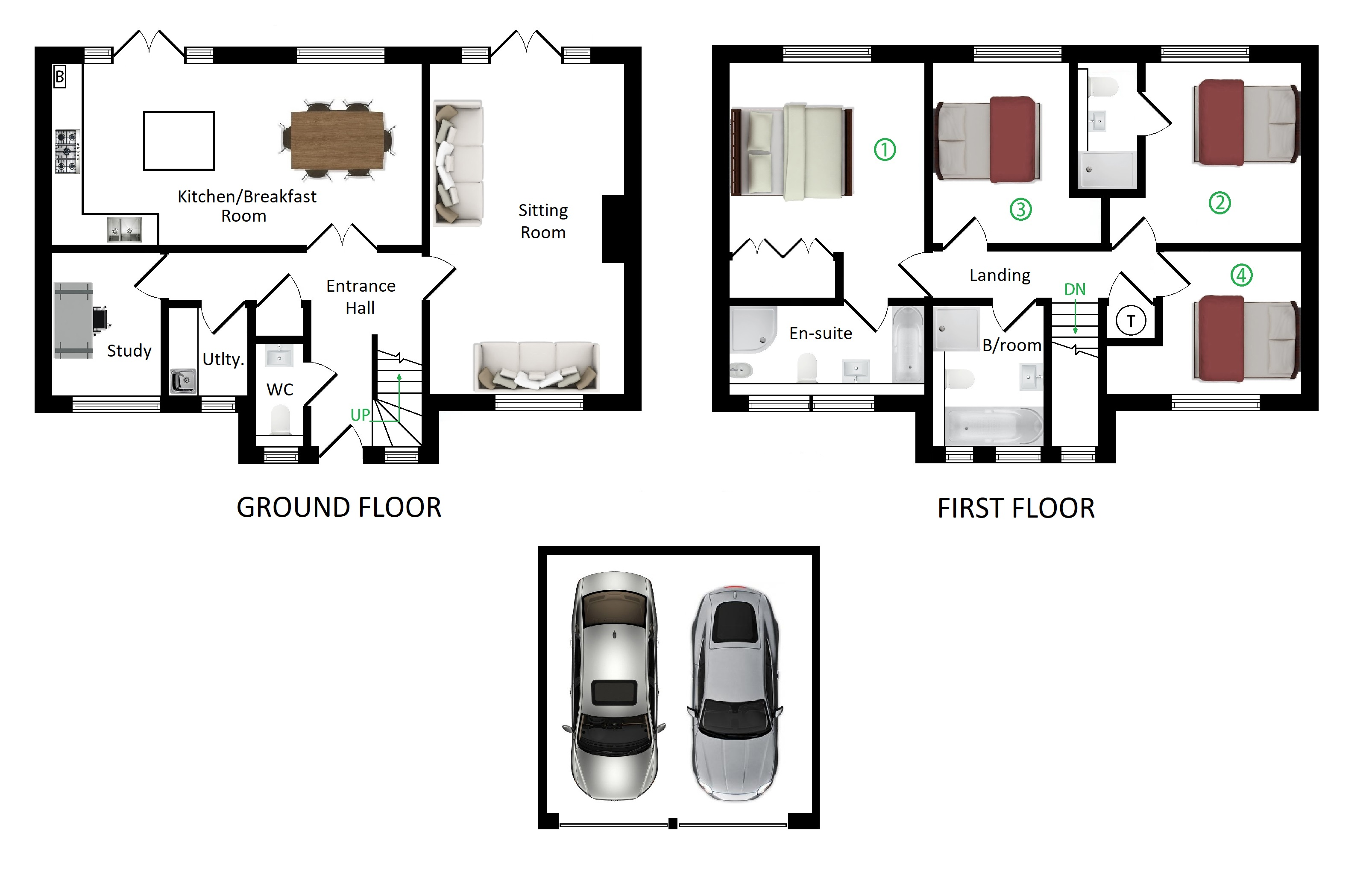 Floorplans For Stanton House, Sondes Court, Faversham