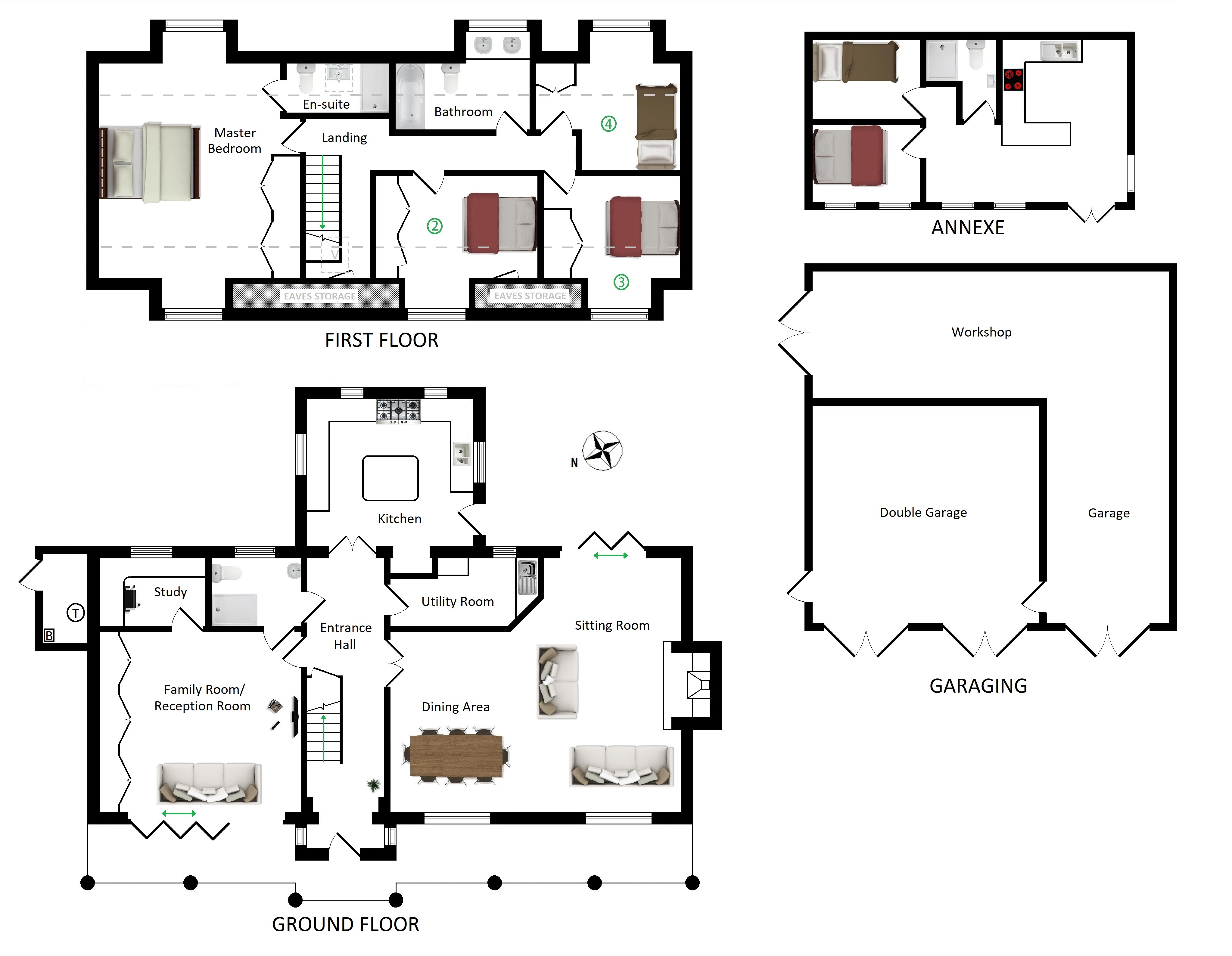 Floorplans For Hart Hill Cottage, Hart Hill, Charing