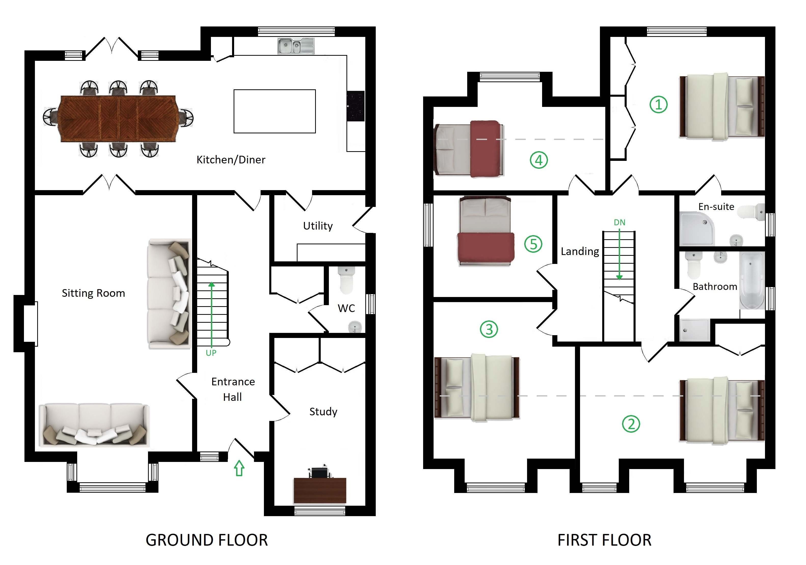 Floorplans For Holly Bank House, Westwell Lane, Challock