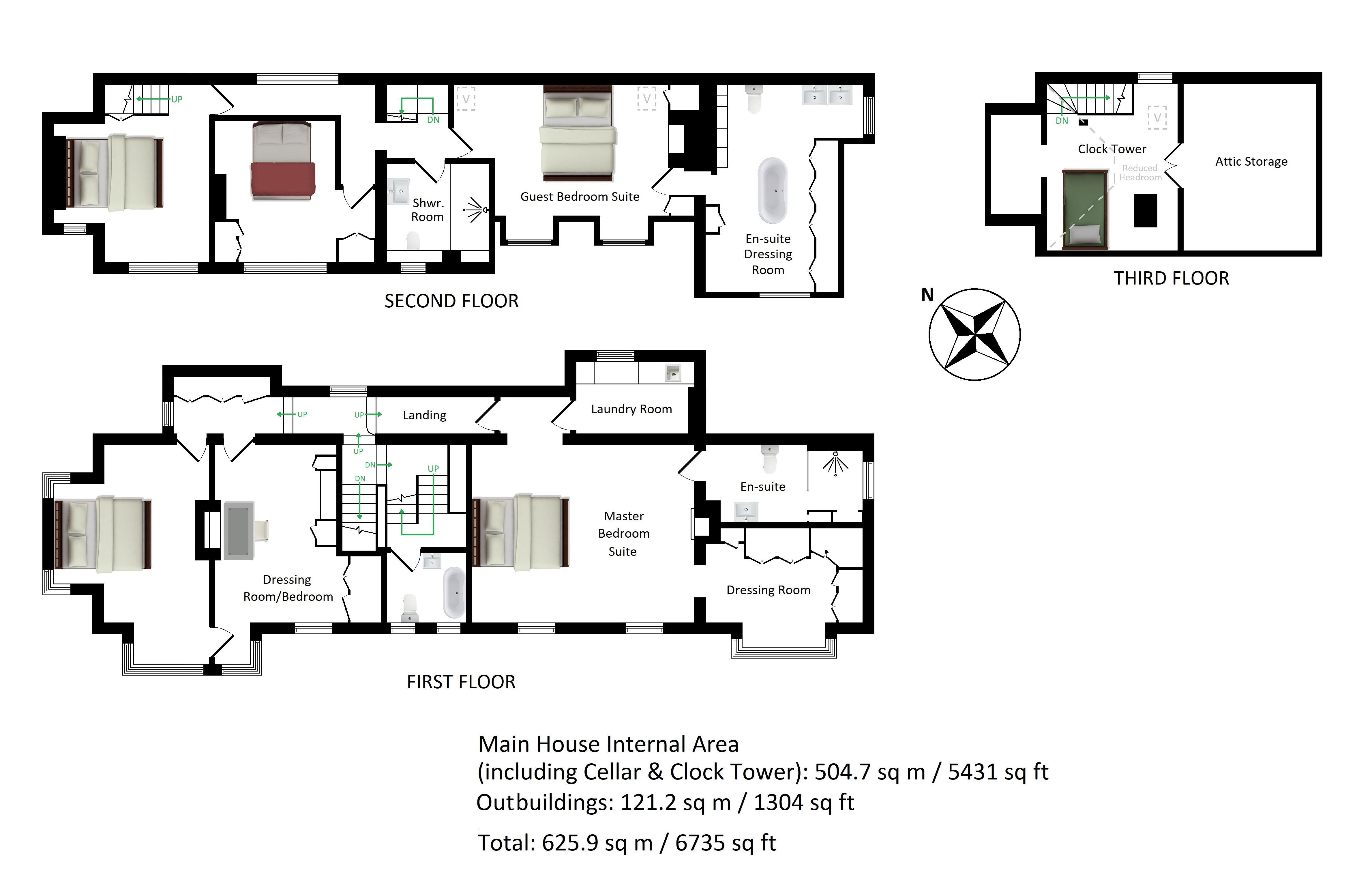 Floorplans For Clock House, Charing Hill, Charing