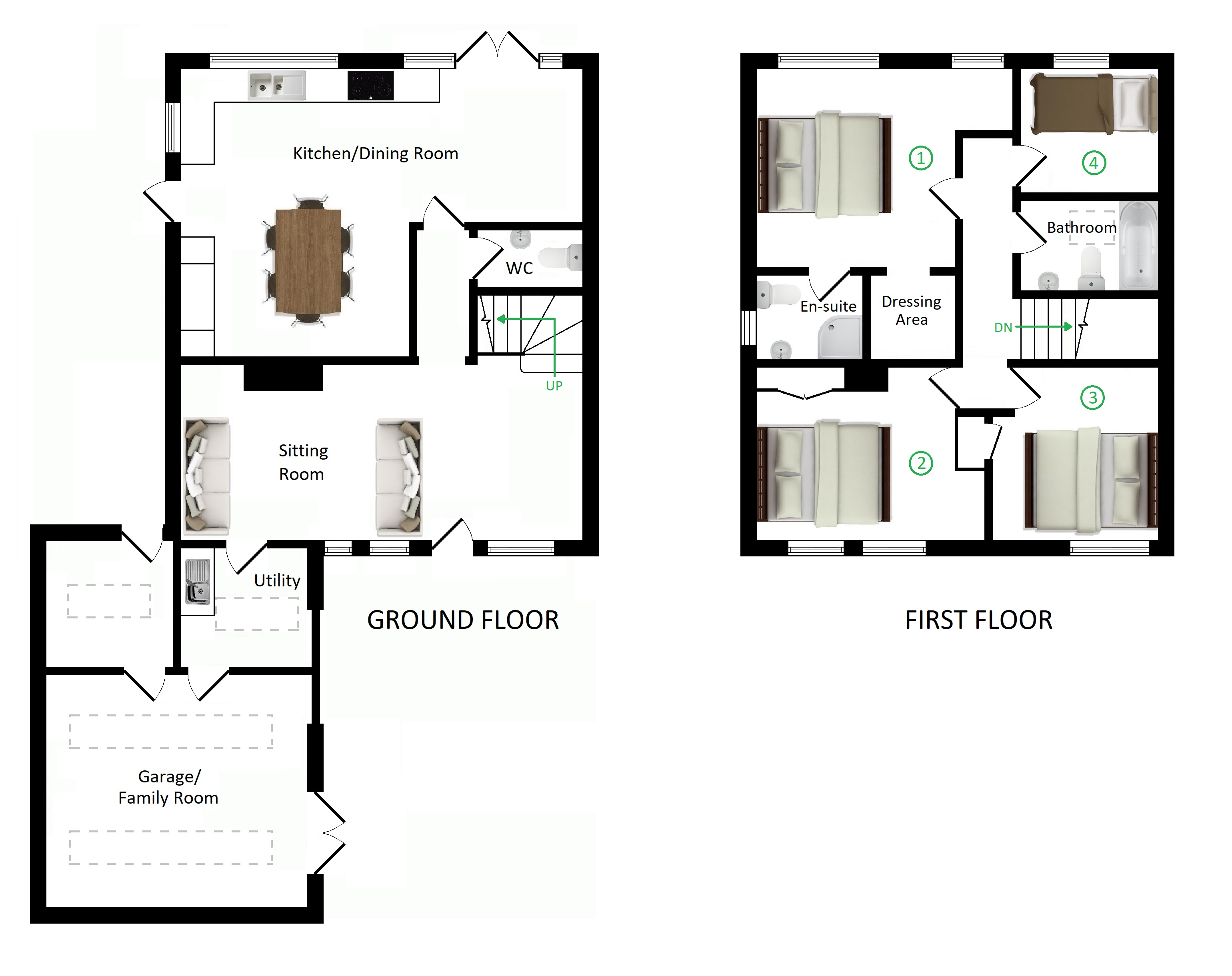 Floorplans For Holly House, Tile Lodge Road, Charing Heath