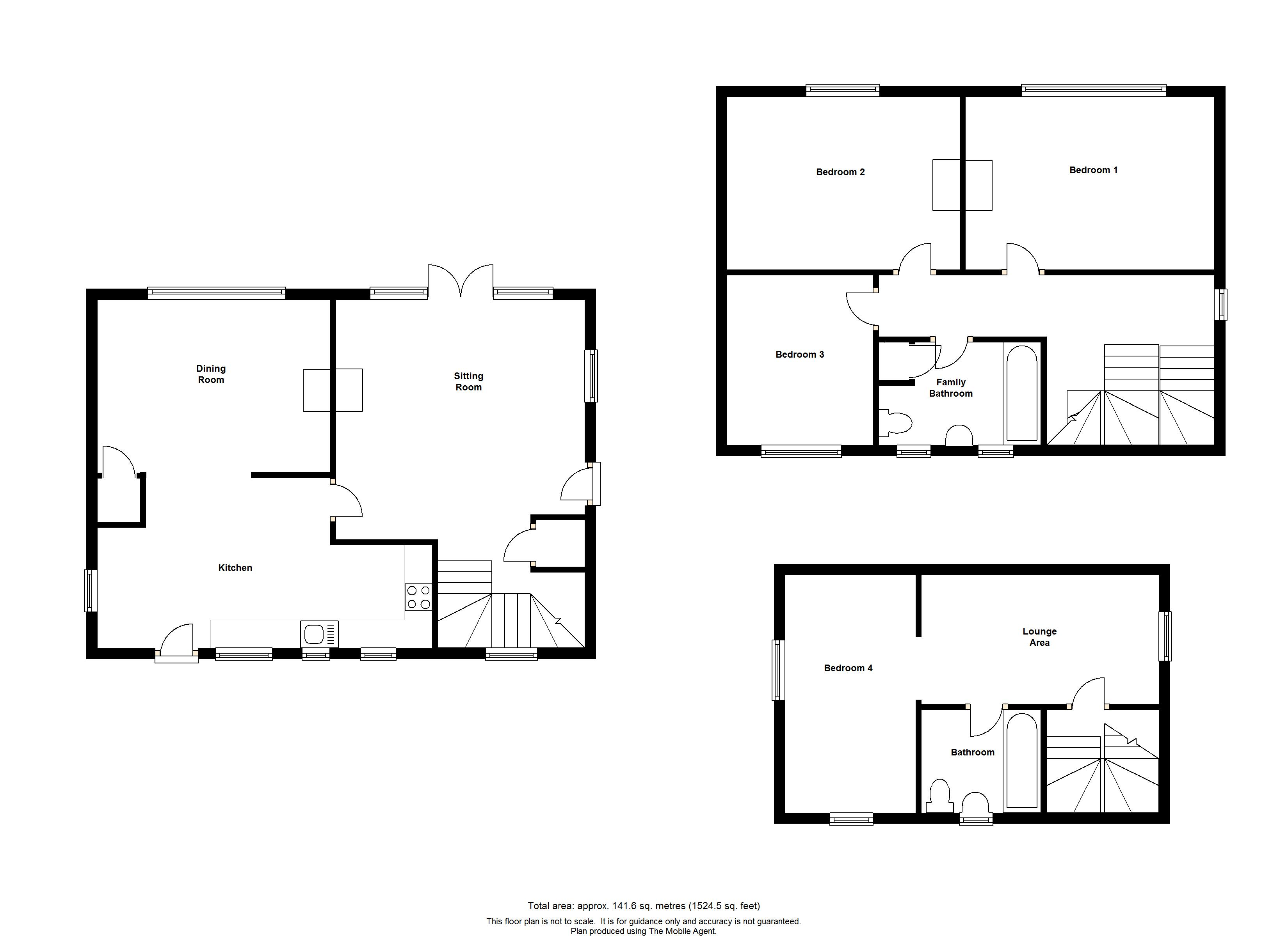 Floorplans For Newlands Cottage, Newlands Road, Charing